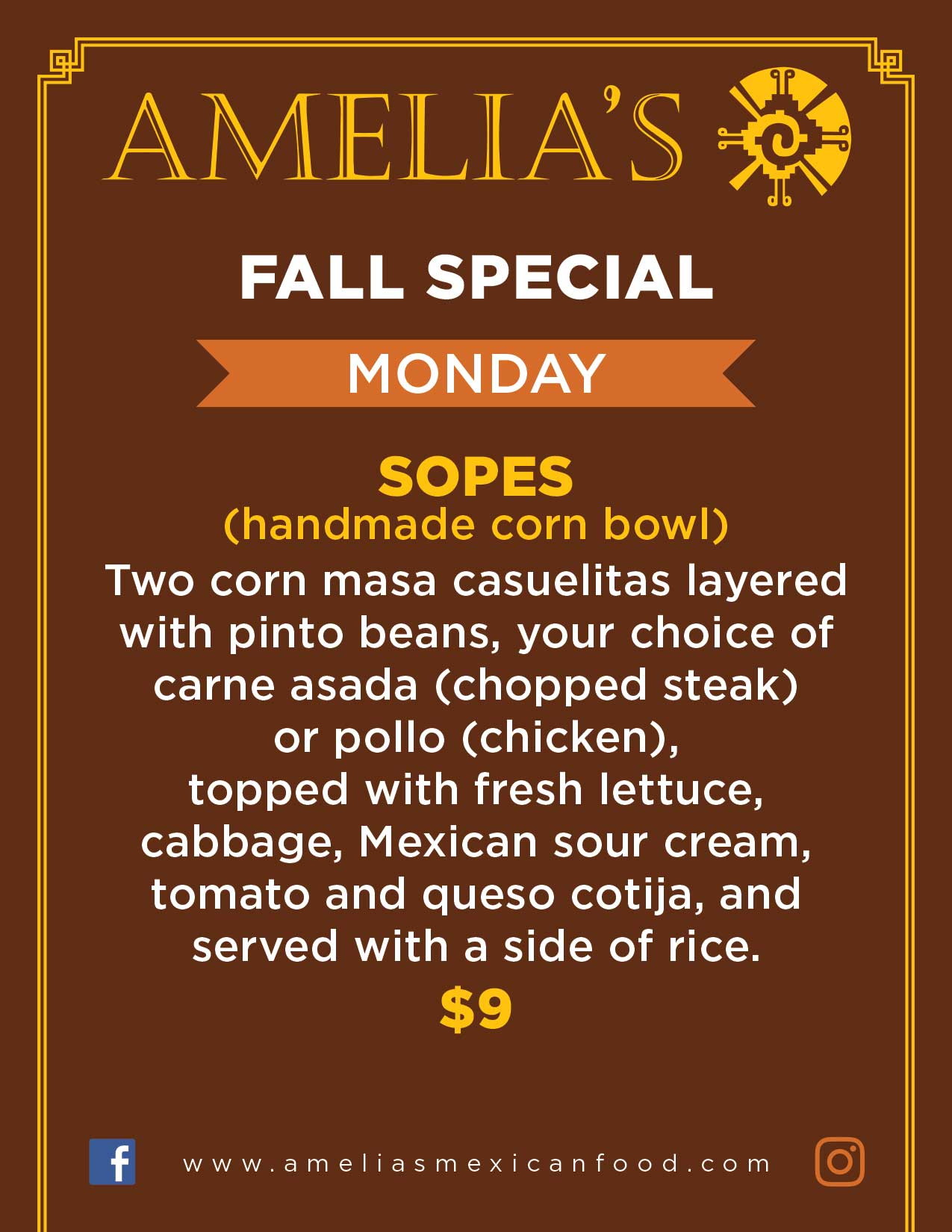 image of Monday specials